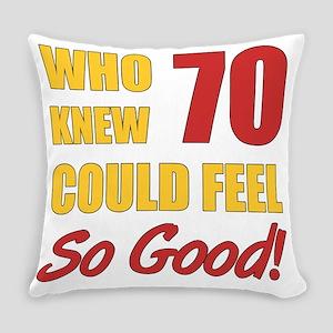 Fun 70th Birthday Everyday Pillow