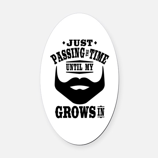 Funny Beard Oval Car Magnet