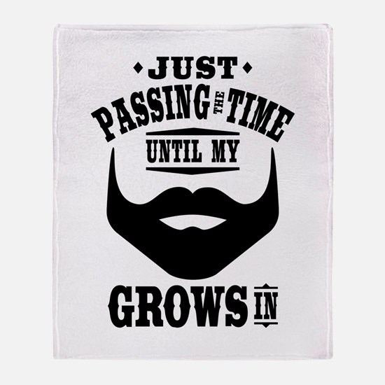 Funny Beard Throw Blanket