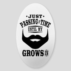 Funny Beard Sticker (Oval)