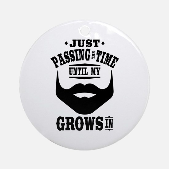 Funny Beard Ornament (Round)