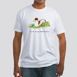 Love Me, Love My Piebald Dox Fitted T-Shirt