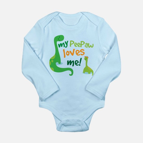 My Peepaw Loves Me Long Sleeve Infant Bodysuit