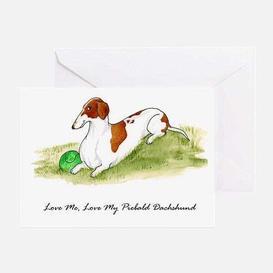Love Me, Love My Piebald Dox Greeting Card