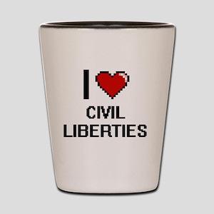 I love Civil Liberties Digitial Design Shot Glass