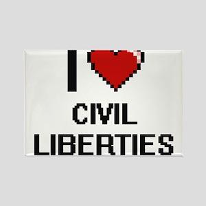 I love Civil Liberties Digitial Design Magnets