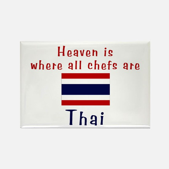 Thai Chefs Rectangle Magnet