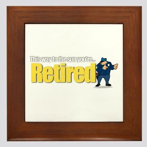 'Retirement Highway 3 :-)' Framed Tile