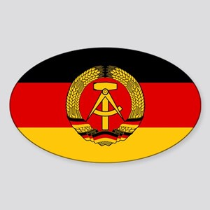 Flag of East Germany Oval Sticker