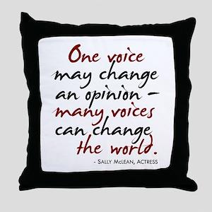 One Voice Throw Pillow