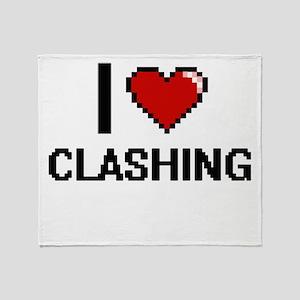 I love Clashing Digitial Design Throw Blanket
