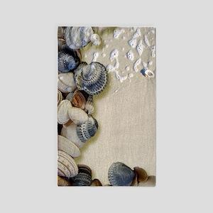 summer ocean beach seashells Area Rug