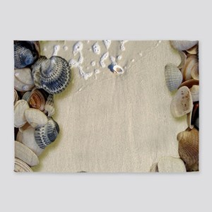 summer ocean beach seashells 5'x7'Area Rug