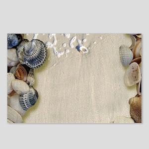 summer ocean beach seashe Postcards (Package of 8)