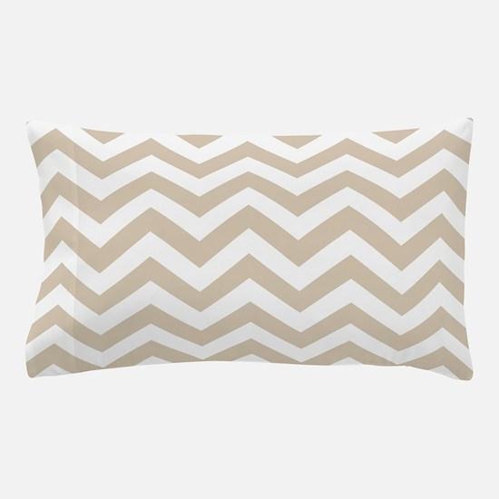 Brown, Beige: Chevron Pattern Pillow Case