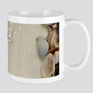 summer ocean beach seashells Mugs