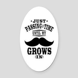 Mustache Oval Car Magnet