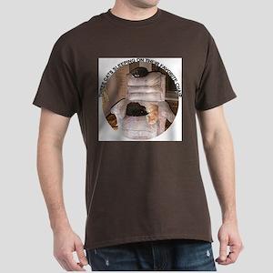 3 Sleeping Cats Dark T-Shirt