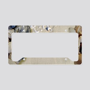 summer ocean beach seashells License Plate Holder