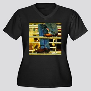western country rodeo cowboy Plus Size T-Shirt