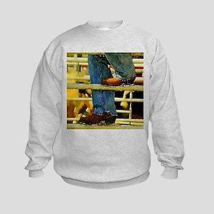 western country rodeo cowboy Kids Sweatshirt