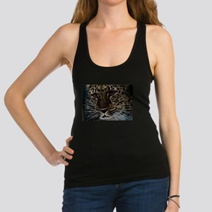 Spotted Cat of Mystery Silk Scr Racerback Tank Top