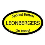 Spoiled Leonbergers On Board Oval Sticker