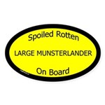 Spoiled Large Munsterlander Oval Sticker