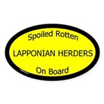 Spoiled Lapponian Herders On Board Oval Sticker