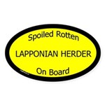 Spoiled Lapponian Herder On Board Oval Sticker