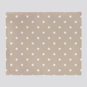 Brown, Beige: Polka Dots Pattern (Sm Throw Blanket