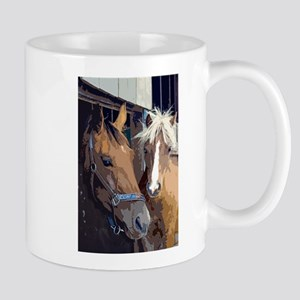 Horsing Around in the Stable Mugs