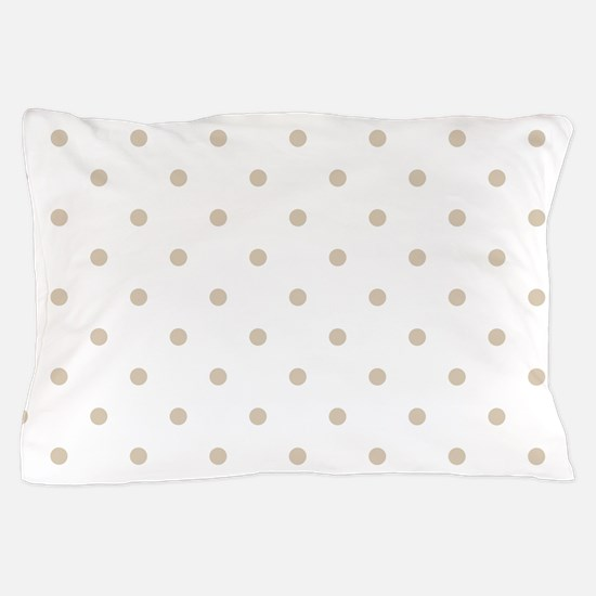Brown, Beige: Polka Dots Pattern (Smal Pillow Case