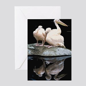 Trio of Peach Pelicans and Their Al Greeting Cards