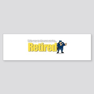 'Retirement Highway 3 :-)' Bumper Sticker