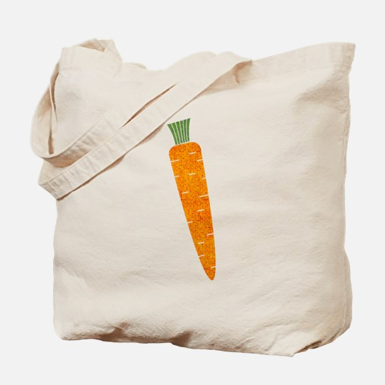 Graphic Orange Carrot with Polka Dots Tote Bag
