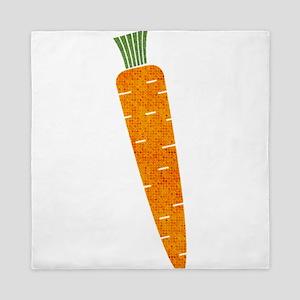 Graphic Orange Carrot with Polka Dots Queen Duvet
