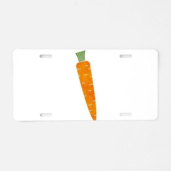 Graphic Orange Carrot with Aluminum License Plate