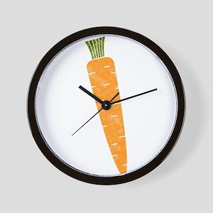 Graphic Orange Carrot Chalk Textured Sk Wall Clock