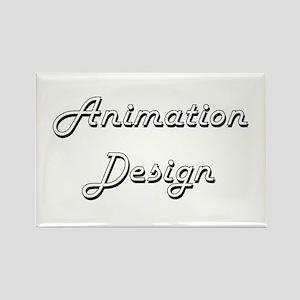 Animation Design Classic Retro Design Magnets