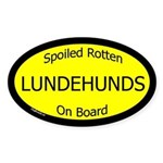 Spoiled Lundehunds On Board Oval Sticker