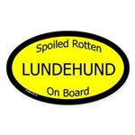 Spoiled Lundehund On Board Oval Sticker