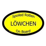 Spoiled Lowchen On Board Oval Sticker