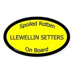 Spoiled Llewellin Setters On Board Oval Sticker