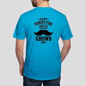 Mustache Men's Fitted T-Shirt (dark)