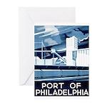 Port Of Philadelphia Greeting Cards (Pk of 10)