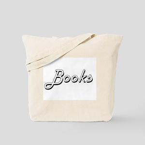 Books Classic Retro Design Tote Bag