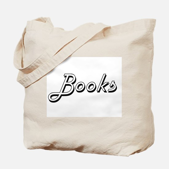 Books Classic Retro Design Tote Bag