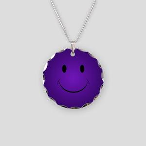 Purple Smiley Face Necklace