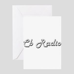 Cb Radio Classic Retro Design Greeting Cards
